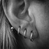 Lobe (traverse/vertical) body jewellery