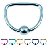 view all Titanium D Ring body jewellery