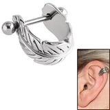 view all Surgical Steel Ear Shield - Feather Curl body jewellery