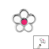view all Steel Daisy for Internal Thread shafts in 1.2mm (0.9mm) body jewellery