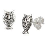 view all Sterling Silver Owl Stud Earrings body jewellery