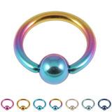 view all Titanium BCR with Titanium Ball 1.0mm gauge body jewellery