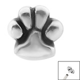 view all Steel Paw Print for Internal Thread shafts in 1.2mm (0.9mm) body jewellery