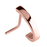 view all Rose Gold Steel Nose Stud Plain Band Curl body jewellery