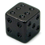 view all Black Steel Threaded Dice body jewellery
