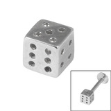view all Steel Threaded Attachment - Dice body jewellery