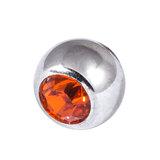 Steel Threaded Jewelled Balls 1.2x2.5mm orange