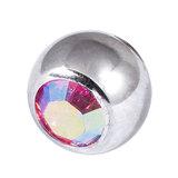 Steel Threaded Jewelled Balls 1.6x6mm - SKU 10083