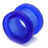 Acrylic Screw Flesh Tunnel 10-24mm 12mm, Blue