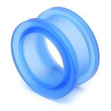 Acrylic Screw Flesh Tunnel 10-24mm 18mm, Blue