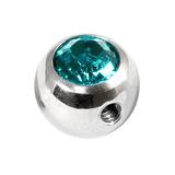 Steel Side-threaded Jewelled Balls 1.6x8mm turquoise