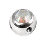 Steel Side-threaded Jewelled Balls 1.6x8mm crystal ab