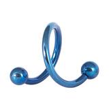 Titanium Spirals 1.2mm 10mm, Blue