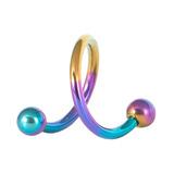 Titanium Spirals 1.2mm 10mm, Rainbow