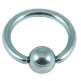 Titanium BCR with Titanium Ball 1.2mm gauge 1.2mm, 12mm, (4mm) Ice Blue