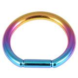 Titanium Bar Closure Ring 1.6mm, 12mm, Rainbow
