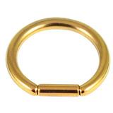 Titanium Bar Closure Ring 1.6mm, 12mm, Gold