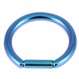 Titanium Bar Closure Ring 1.6mm, 8mm, Turquoise