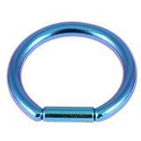 Titanium Bar Closure Ring 1.6mm, 12mm, Turquoise