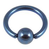Titanium BCR with Titanium Ball 1.2mm gauge 1.2mm, 9mm, (4mm) Blue