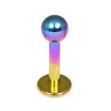 Titanium Labrets 1.6mm 1.6mm, 8mm, (4mm) Rainbow