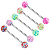 Acrylic Spider Barbell 12 / 6