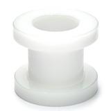 Acrylic Screw Flesh Tunnel 2-8mm 3 / white