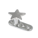Titanium Dermal Anchor with Titanium Star Top 2.5mm, Mirror Polish