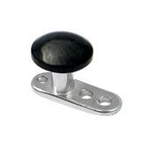 Titanium Dermal Anchor with Titanium Smooth Disk Top 2.5mm, Black Titanium