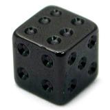 Black Steel Threaded Dice 1.6mm, 5mm