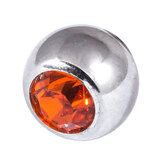 Steel Threaded Jewelled Balls 1.6x8mm orange