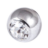 Steel Threaded Jewelled Balls 1.6x8mm clear