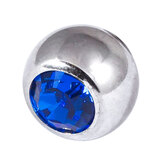Steel Threaded Jewelled Balls 1.6x8mm capri blue
