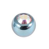 Titanium Threaded Jewelled Balls 1.6x4mm Ice Blue metal, Crystal AB Gem