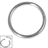 Titanium Smooth Segment Ring 1.2mm, 8mm, Mirror Polish