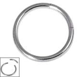 Titanium Smooth Segment Ring 1.2mm, 10mm, Mirror Polish