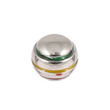 Steel Threaded Attachment - 1.2mm and 1.6mm Saturn Ball 1.2 / green yellow red combination / 4