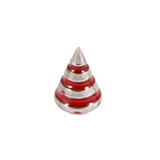 Steel Threaded Attachment - 1.2mm and 1.6mm Saturn Cone 1.2 / 4 / red