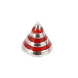 Steel Threaded Attachment - Saturn Cone 1.6 / 4 / red