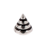 Steel Threaded Attachment - 1.2mm and 1.6mm Saturn Cone 1.6 / 4 / black