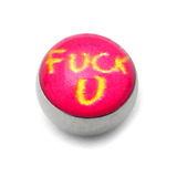 Steel Logo Balls - Words F*ck U (Pink)