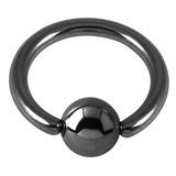 Black Steel Ball Closure Ring (BCR) 1.6mm, 12mm