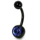 PVD on steel: black jewelled bananas sapphire / 10