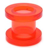 Acrylic Screw Flesh Tunnel 2-8mm 8 / uv red