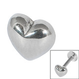 Steel Threaded Attachment - 1.2mm and 1.6mm Cast Steel Heart Heart, 1.6mm (attachment only)