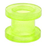 Acrylic Screw Flesh Tunnel 2-8mm 8 / uv green