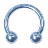 Titanium Circular Barbells (CBB) (Horseshoes) 1.2mm 1.6mm 1.2mm, 12mm, (3mm), Ice Blue