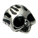Steel Threaded Attachment - 1.6mm Cast Steel Flaming Skull - SKU 13636