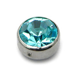 clip in jewelled disk light blue / 3