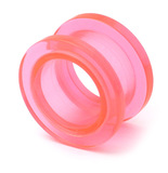 Acrylic Screw Flesh Tunnel 10-24mm 16mm, Pink
